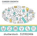 career growth concept... | Shutterstock .eps vector #515502406