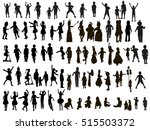 large set of silhouettes ... | Shutterstock .eps vector #515503372