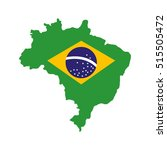 brazil map geography isolated... | Shutterstock .eps vector #515505472