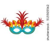brazilian carnival mask rio | Shutterstock .eps vector #515505562