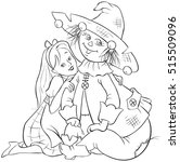 dorothy and scarecrow. wizard... | Shutterstock .eps vector #515509096