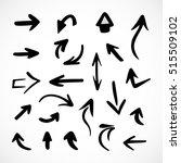 hand drawn arrows  vector set | Shutterstock .eps vector #515509102
