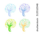 tree with round leaves ...   Shutterstock .eps vector #515510548