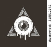 cartoon all seeing eye | Shutterstock .eps vector #515512192