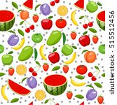 fruits seamless pattern for... | Shutterstock .eps vector #515512456