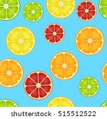 seamless pattern with different ... | Shutterstock . vector #515512522