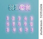 realistic neon character... | Shutterstock .eps vector #515512636