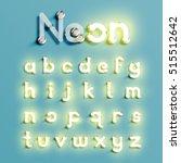 realistic neon character... | Shutterstock .eps vector #515512642