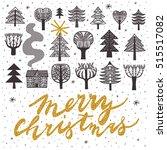 winter forest. print design | Shutterstock .eps vector #515517082