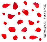 background with red rose petals.... | Shutterstock .eps vector #515517436
