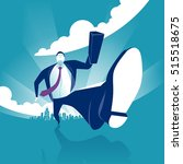 hurrying businessman. business... | Shutterstock .eps vector #515518675