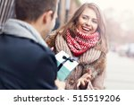 picture showing young couple...   Shutterstock . vector #515519206