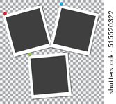 set of retro photo frame with... | Shutterstock .eps vector #515520322