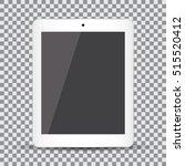 blank screen. realistic white... | Shutterstock .eps vector #515520412