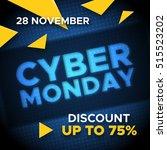 cyber monday sale promo vector... | Shutterstock .eps vector #515523202