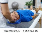 male physiotherapist giving... | Shutterstock . vector #515526115