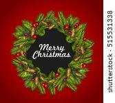 christmas background with fir... | Shutterstock .eps vector #515531338
