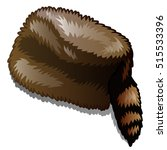 fur winter hat with tail...   Shutterstock .eps vector #515533396