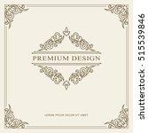vintage ornament greeting card... | Shutterstock .eps vector #515539846