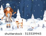 christmas and new year... | Shutterstock . vector #515539945