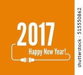 happy new year 2017 theme.  | Shutterstock .eps vector #515550862