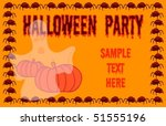 a halloween party invitation... | Shutterstock .eps vector #51555196