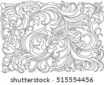 background with abstract waves. ... | Shutterstock .eps vector #515554456