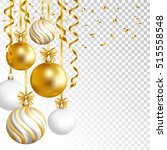merry cristmas and happy new... | Shutterstock .eps vector #515558548