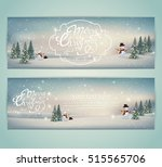 vintage merry christmas and... | Shutterstock .eps vector #515565706