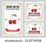 cherry liquor retro style label ...   Shutterstock .eps vector #515574958