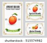 apricot brandy   liquor ... | Shutterstock .eps vector #515574982
