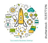 round concept of business start ... | Shutterstock . vector #515577196