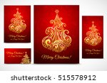 set of cristmas baner  cards... | Shutterstock .eps vector #515578912