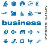 set of elements for logo design ...