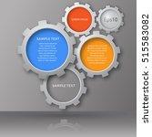 vector illustration of gears... | Shutterstock .eps vector #515583082