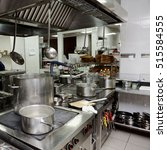professional kitchen interior ... | Shutterstock . vector #515584555