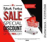 black friday sale banner for... | Shutterstock .eps vector #515591068