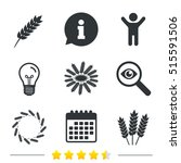 agricultural icons. gluten free ... | Shutterstock .eps vector #515591506