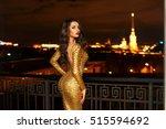 sexy fashionable beautiful...   Shutterstock . vector #515594692