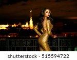 sexy fashionable beautiful... | Shutterstock . vector #515594722