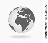 white gray globe glass... | Shutterstock .eps vector #515601022