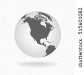 white gray globe glass... | Shutterstock .eps vector #515601082