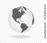 white gray globe glass... | Shutterstock .eps vector #515601112