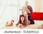 the mother father and son lie...   Shutterstock . vector #515609212