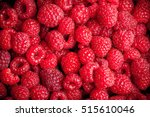 fresh raspberries fruit closeup ... | Shutterstock . vector #515610046