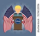 president usa speaks to people... | Shutterstock .eps vector #515612056