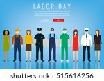 people of different occupations.... | Shutterstock .eps vector #515616256