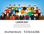 people of different occupations.... | Shutterstock .eps vector #515616286