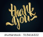 thank you lettering. hand... | Shutterstock .eps vector #515616322