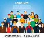 people of different occupations.... | Shutterstock .eps vector #515616346